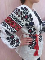 Вышиванка из льна Борщивская