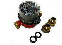 Счётчик воды Луцк КВ-1,5 для горячей воды (в комплекте штуцера)