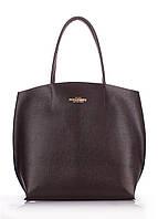 Купить кожаную женскую сумку коричневую Poolparty