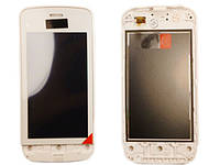 Сенсорный экран для Nokia C5-03 High Copy White с рамкой