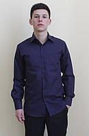 Классическая мужская рубашка темно-синего цвета
