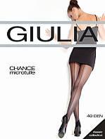Колготки женские в мелкую сетку с эффектным швом TM Giulia