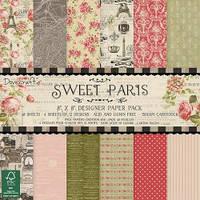 """Набор бумаги для кардмейкинга и скрапбукинга """"Sweet Paris"""" DCDP147"""