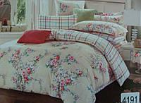 Сатиновое постельное белье евро ELWAY 4191