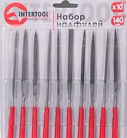 Набор надфилей 10шт/упак., 140мм.  Intertool HT-3708