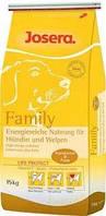 Корм для собак Josera Family 15 кг, корм для кормящих или беременных сук и щенков до 8-й недели