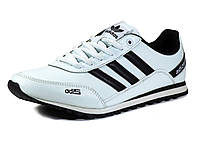Кроссовки Adidas Adizero мужские, кожаные, белые/ черные вставки, фото 1