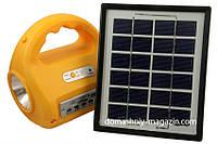 Светодиодный аварийный фонарь 7655 с радиоприемником и солнечной батареей