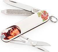Качественный нож-брилок Victorinox Сlassic 06223.7R2 белый