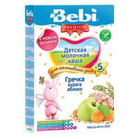 Детская молочная гречневая каша Bebi Premium с курагой и яблоком