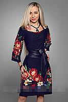 Платье женское с имитацией вышиванки