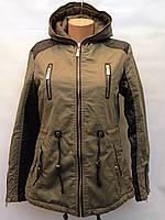 Куртка Парка женская осень-весна цвета хаки