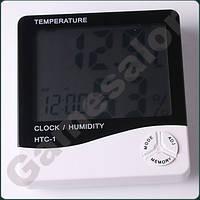 Термометр электронный гигрометр часы с будильником и календарем настольный настенный