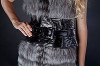 Кожаный пояс-корсет. Объем талии 60-80 см, регулируется с помощью «верхнего пояса».
