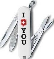 Качественный нож-брелок Victorinox Classic VX Colors 06223.857 белый
