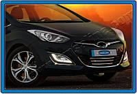 Hyundai I30 2012 Накладки на нижнюю решетку и вокруг (нерж.)