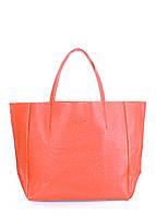 Купить коралловую кожаную сумку женскую POOLPARTY