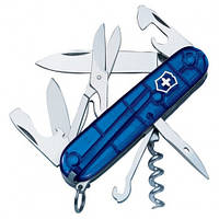 Victorinox Викторинокс нож Climber 14 предметов 91 мм синий полупрозрачный нейлон