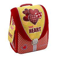 """Ортопедический ранец-трансформер 14"""", для девочки, Love Heart"""