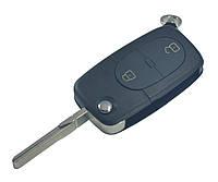 Заготовка AUDI выкидной ключ 2 кнопки (корпус) лезвие HU66