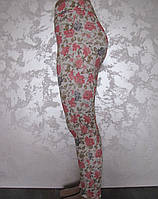 Лосины-брюки для девочек Розовый гибискус