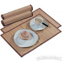 Набор ковриков под тарелки KESPER бамбук светлые 2 штуки 44,5*30 см (52401)