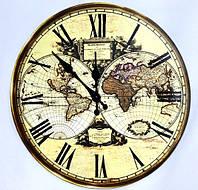 """Европейский дизайн настенные часы """"Карта мира"""" в стиле Прованс"""