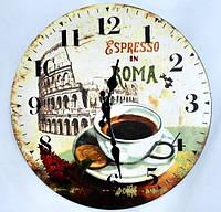 """Декоративные настенные часы для кафе, кухни """"Espresso"""" в стиле Прованс"""
