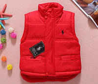 Детская красная демисезонная жилетка на мальчика Polo