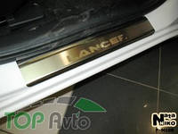 Nataniko Накладки на пороги Mitsubishi Lancer X Premium