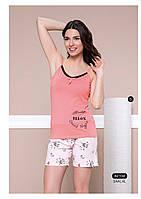 """Женская пижама, костюм для дома, майка и шорты Moyra Caprice """"Далматинцы"""" 42104"""