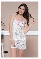 """Женская пижама, костюм для дома майка и шорты Moyra Caprice """" Котенок"""" 42125"""
