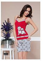 """Женская пижама, домашний костюм майка и шорты Moyra Caprice """" Собачки"""" 42131"""