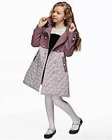 Детское пальто для девочки №572 сирень