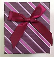 Подарочная коробка для часов Бордовая в полоску