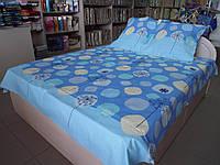 Постельное бельё бязь соло дизайн Одуванчики синие