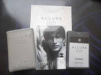 Мужской мини-парфюм в кожаном чехле Chanel Allure Homme Sport Man 20ml