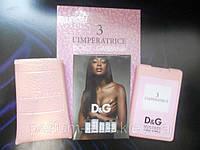 Женский мини-парфюм в кожаном чехле Dolce&Gabbana 3 L'imperatrice 20ml