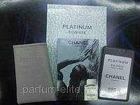 Пробник духов в кожаном чехле Chanel Platinum Egoiste Man 20ml