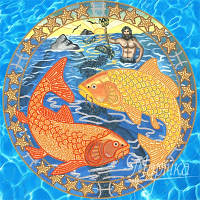 Схема для вышивки бисером Знаки Зодиака. Рыбы РКП-016
