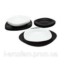 Столовый набор Luminarc Carine Black&White 19 предметов