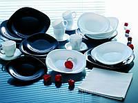 Столовый сервиз Carine Luminarc 30 предметов черно-белый