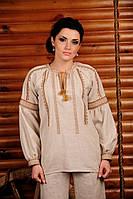 Вышиванка женская льняная. Жіноча блуза Модель:ЖБ-43-руш.