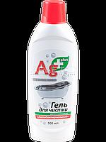 Гель для чистки ванн и раковин  (Антибактериальный)   AG+ plus - Bio Formula 500мл.