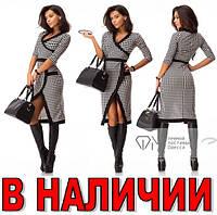 Платье с Запахом ГУСИНЫЕ ЛАПКИ+ЭКО-КОЖА