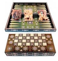 Игровой набор 3в1 Шахматы, Шашки, Нарды W5008