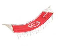 Комфортный отдых на природе – гамак 1*2 метра, с перекладиной и красивой маленькой подушкой, ткань - хлопок