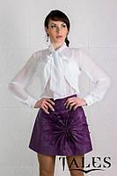 Блузка шифоновая с бантом Pleat