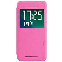 Кожаный чехол книжка Nillkin Sparkle для HTC Desire Eye розовый