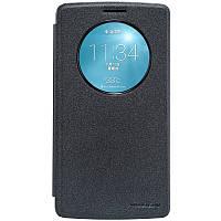 Кожаный чехол книжка Nillkin Sparkle для LG G3 Stylus D690 Dual черный
